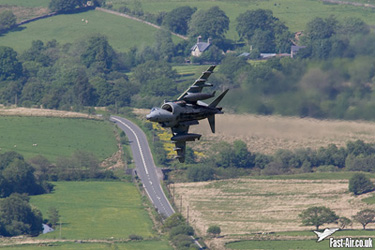 RAF Harrier GR9 (ZD438) low level photo underside