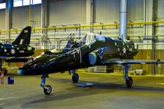 Hawk T1 XX290 in storage at RAF Shawbury