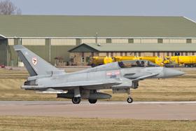 RAF Typhoon T3 ZJ813 callsign Triplex