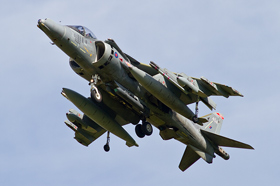 1 Sqn Harrier GR9A ZD433 with sniper pod and mission marks