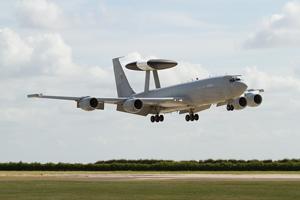 RAF E3-D Sentry ZH102 - landing photo