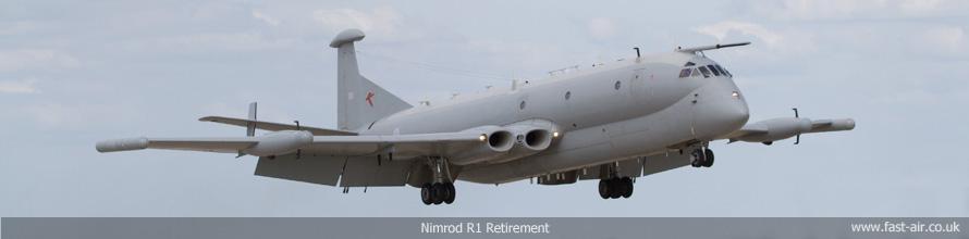 RAF Waddington - Nimrod R1 Retirement