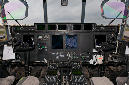 RAF C-130J ZH867 Cockpit