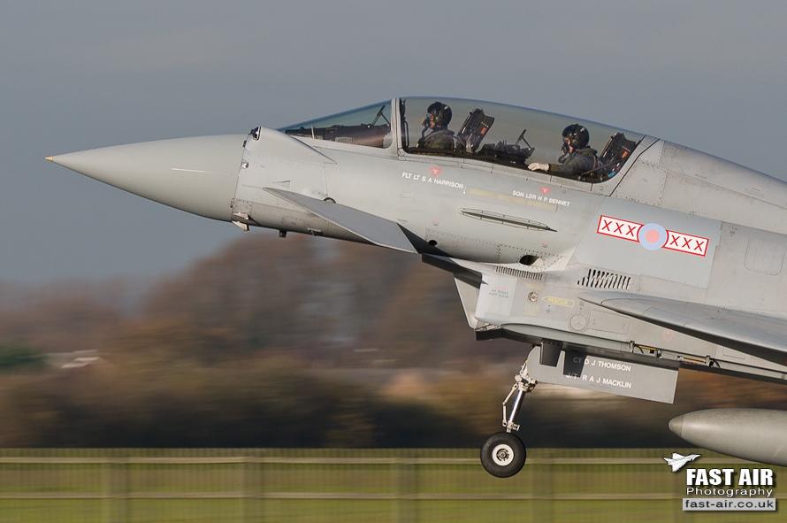 RAF Typhoon T3 ZJ806 29(R) Sqn