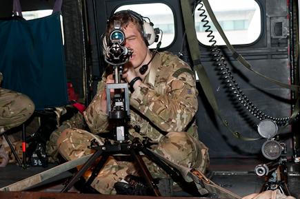 RAF Regiment Sniper in Puma XW219