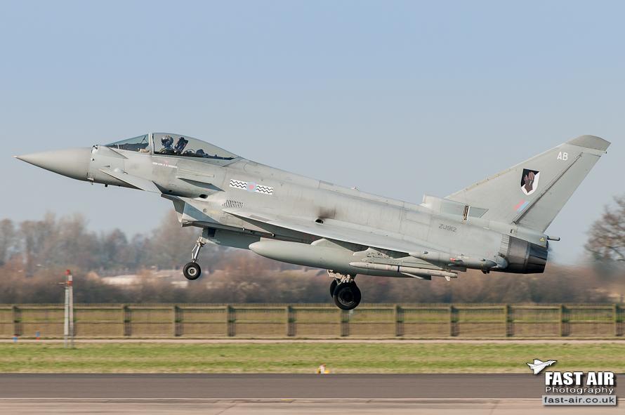 RAF Typhoon FGR4 ZJ12 - 17(R) Sqn