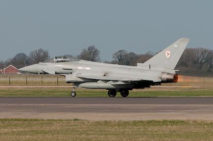 RAF Typhoon FGR4 ZJ928 Reheat Scramble