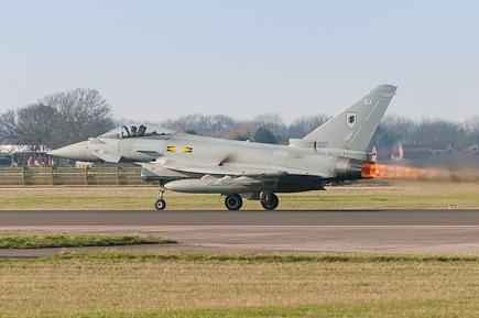 RAF Typhoon FGR4 ZJ935 Reheat Scramble
