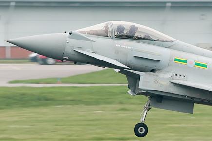 RAF Typhoon Landing