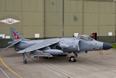 Sea Harrier FA2 ZH800 at Cottesmore as part of the Falklands 25 event
