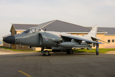 Sea Harrier FA2 ZH801 in the NSW hanger at Cottesmore
